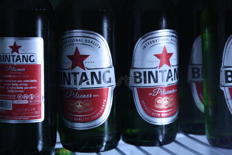 Bière de Bintang photographie stock libre de droits