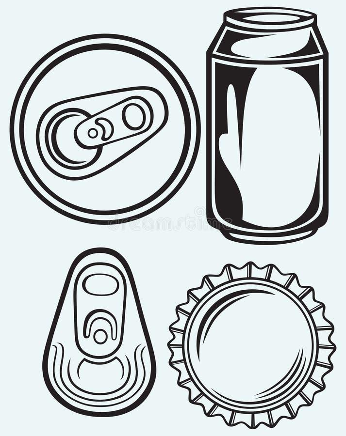 Bière de capsule illustration de vecteur
