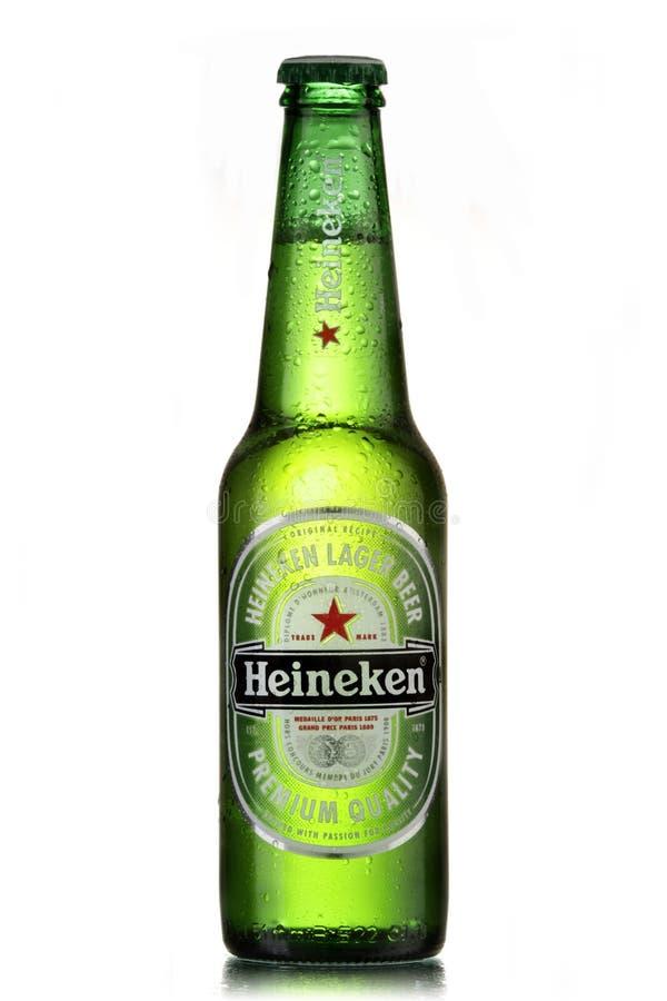 Bière de Heineken images libres de droits