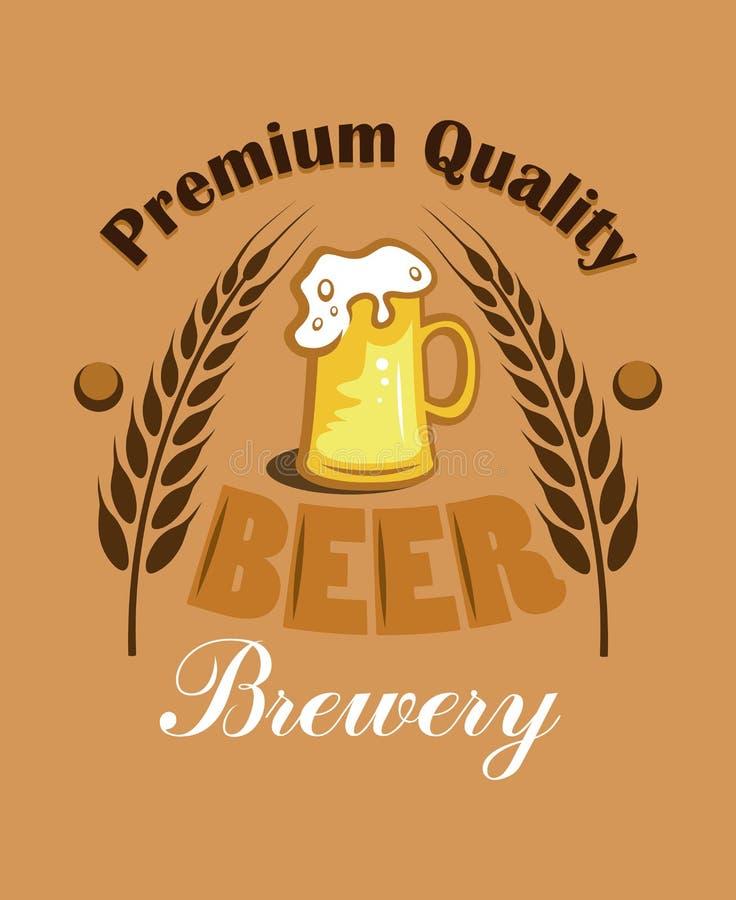 Bière de la meilleure qualité de qualité - label de brasserie illustration libre de droits
