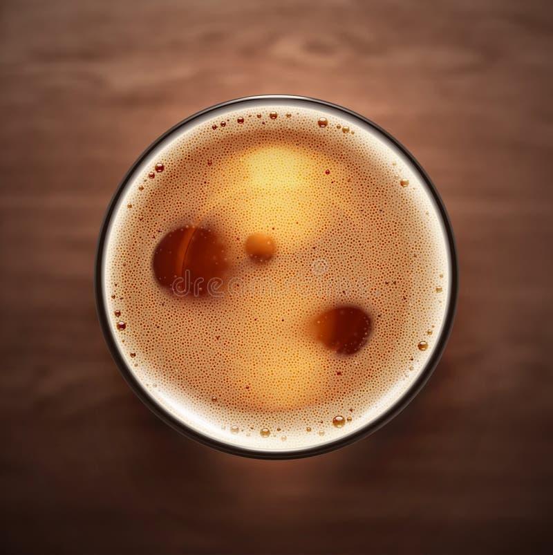 Bière en verre illustration stock