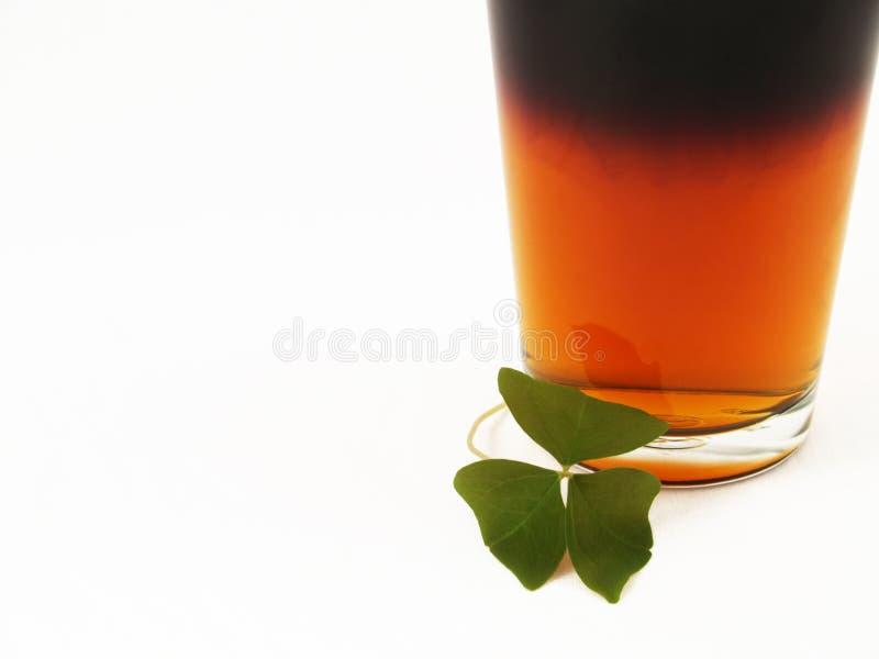 Bière et oxalide petite oseille de jour de rue Patricks photographie stock
