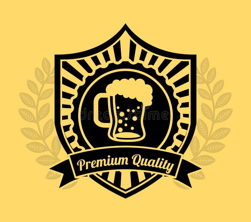 Bière froide illustration libre de droits