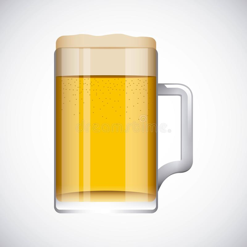 Bière froide illustration stock