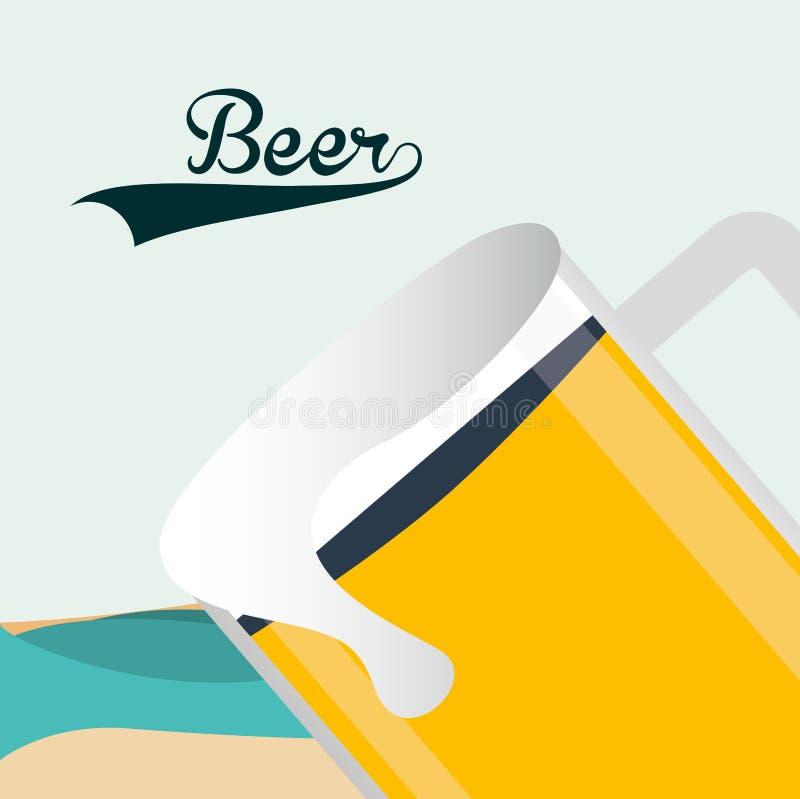 Bière froide illustration de vecteur