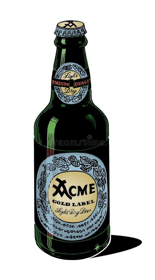 Bière générique des années 50 de cru illustration libre de droits