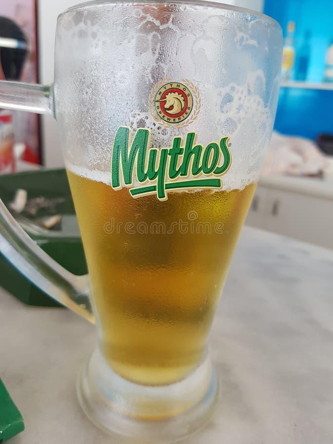 Bière locale, mythos photographie stock
