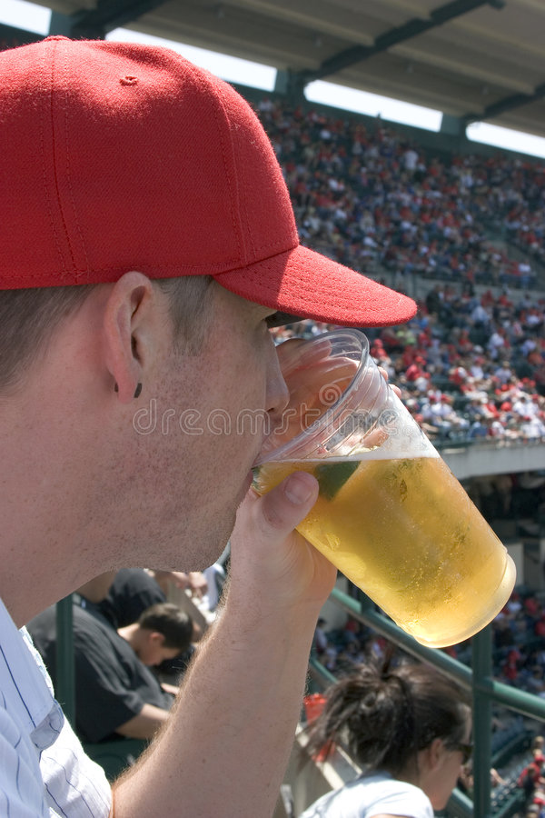 Bière potable photographie stock