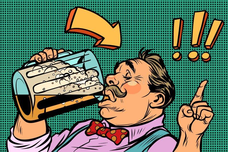 Bière potable d'homme allemand oktoberfest illustration libre de droits