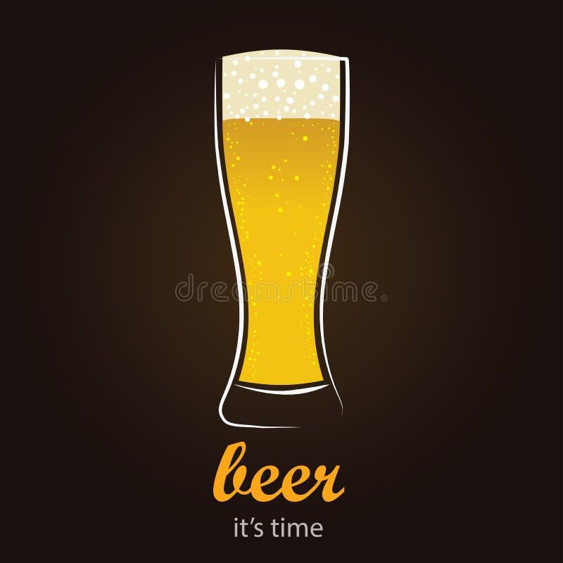 Bière régénératrice en verre de Pilsner illustration de vecteur