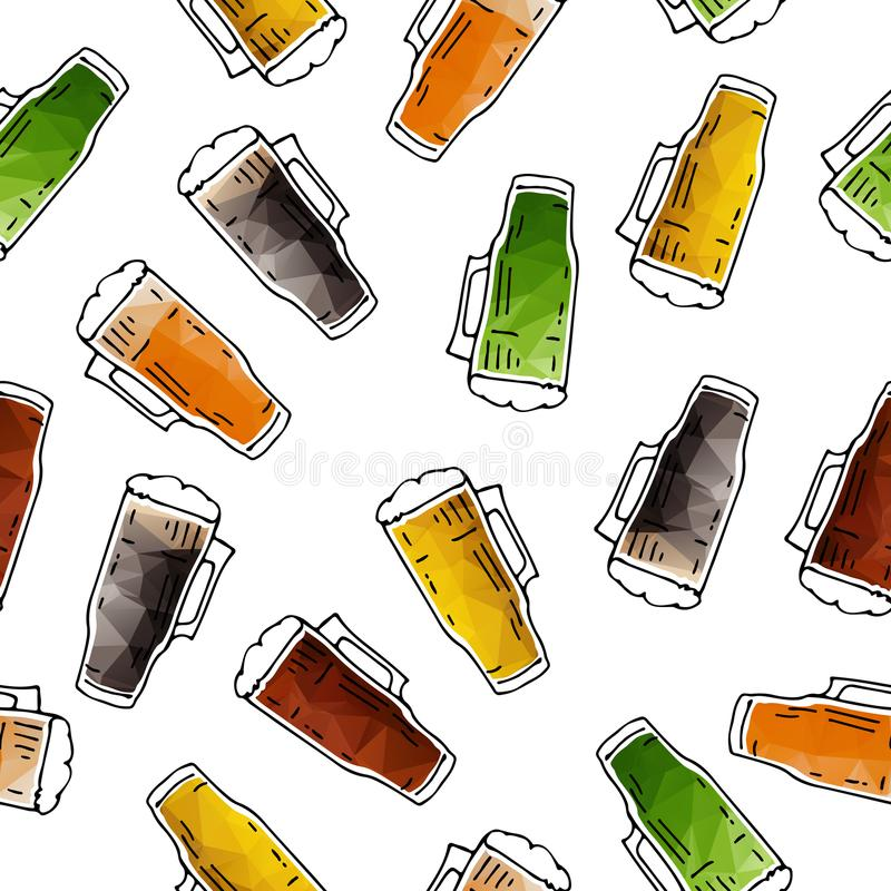 Bière seamless-02 illustration stock