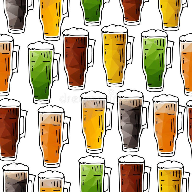 Bière seamless-01 illustration libre de droits