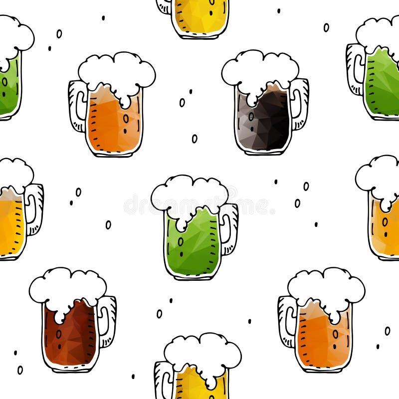 Bière seamless-06 illustration stock