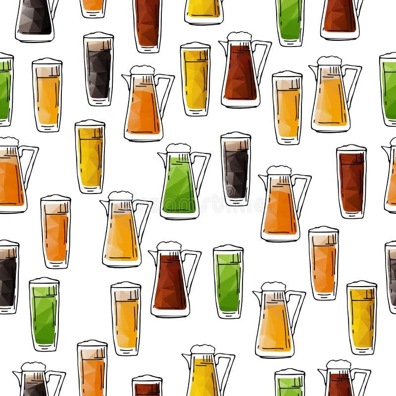 Bière seamless-03 illustration stock