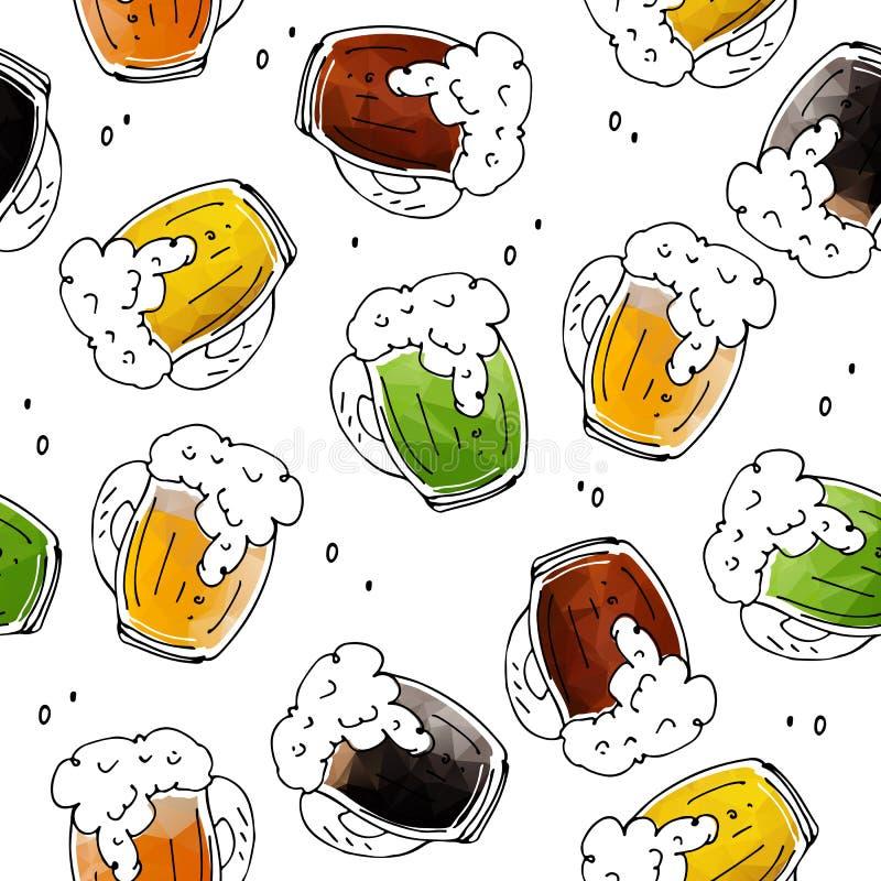 Bière seamless-09 illustration libre de droits