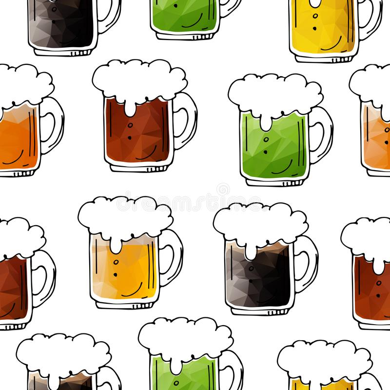 Bière seamless-04 illustration stock