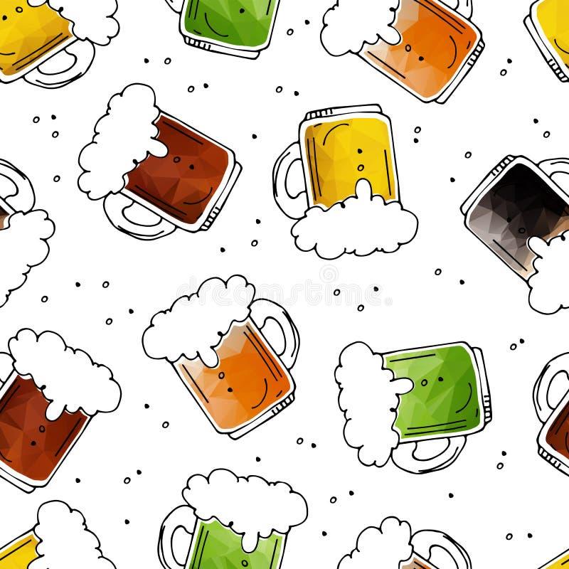 Bière seamless-12 illustration stock