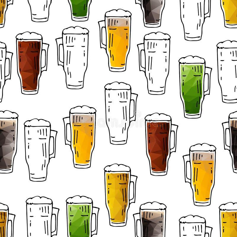 Bière seamless-11 illustration de vecteur