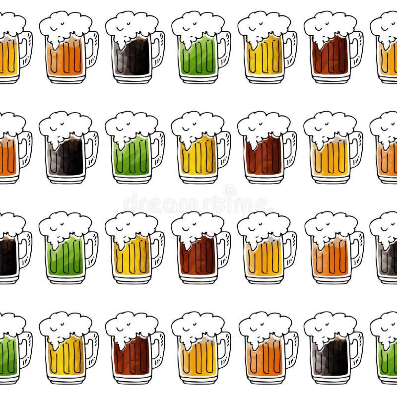 Bière seamless-16 illustration de vecteur