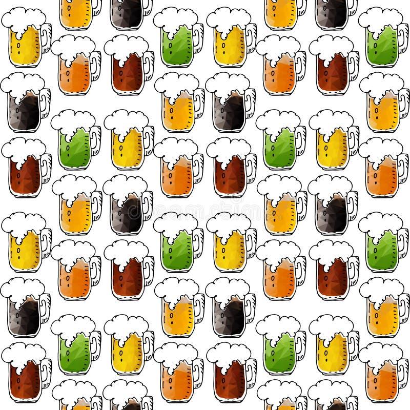 Bière seamless-14 illustration de vecteur