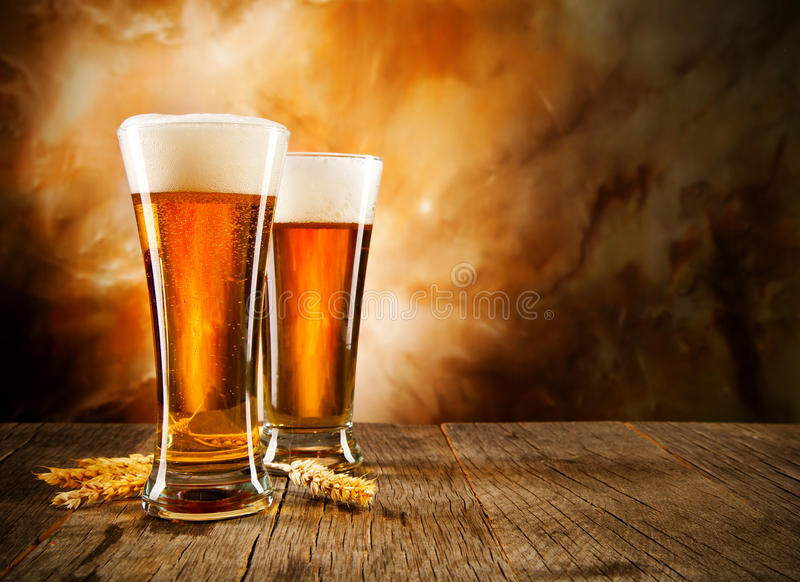 Bières photographie stock