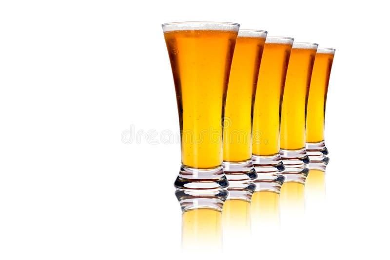 Bières blondes photo libre de droits