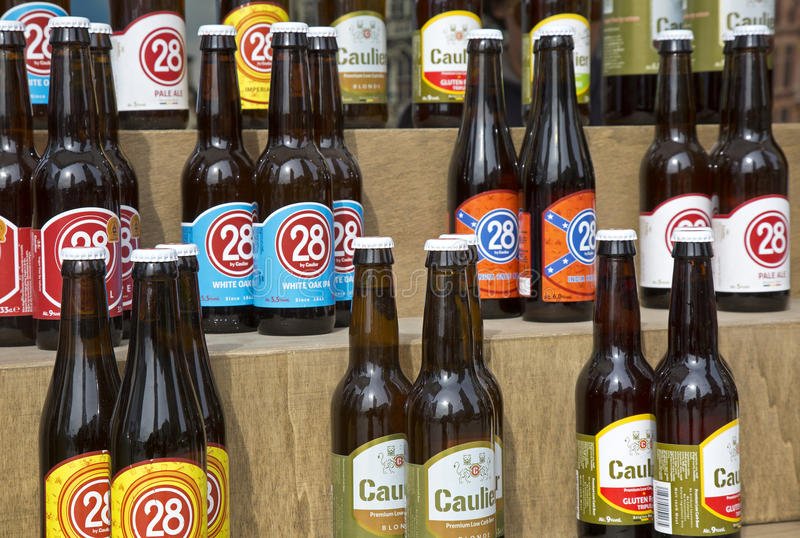 Bières de Caulier réglées images libres de droits