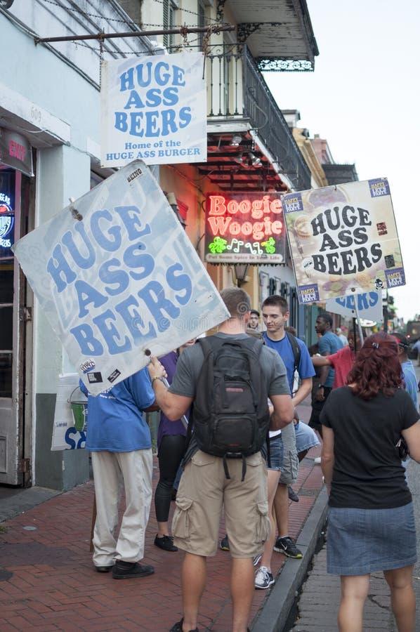 Bières de rue de Bourbon photographie stock