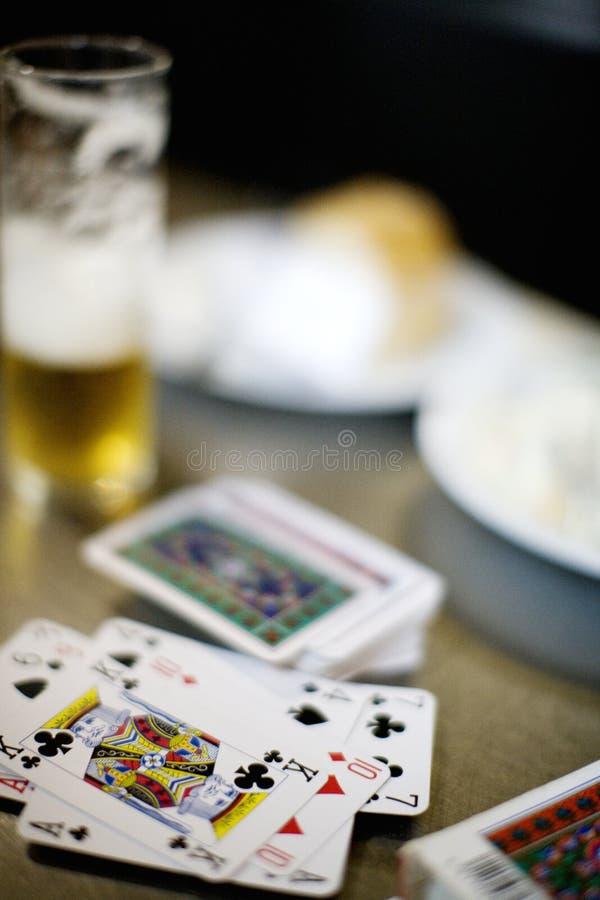 Bières et cartes photos stock