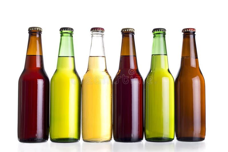 Bières mexicaines non étiquetées ou Cervesa photographie stock libre de droits