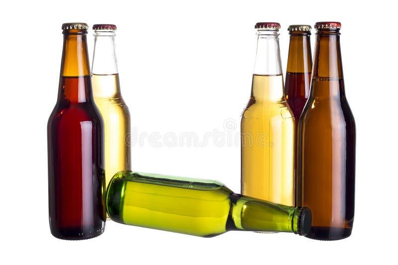 Bières mexicaines non étiquetées ou Cervesa photo libre de droits