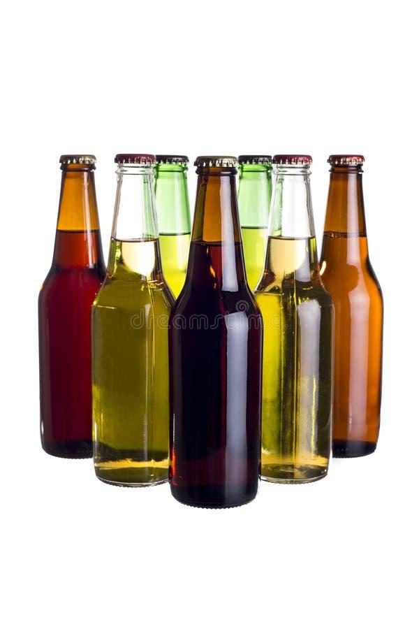 Bières mexicaines non étiquetées ou Cervesa images libres de droits