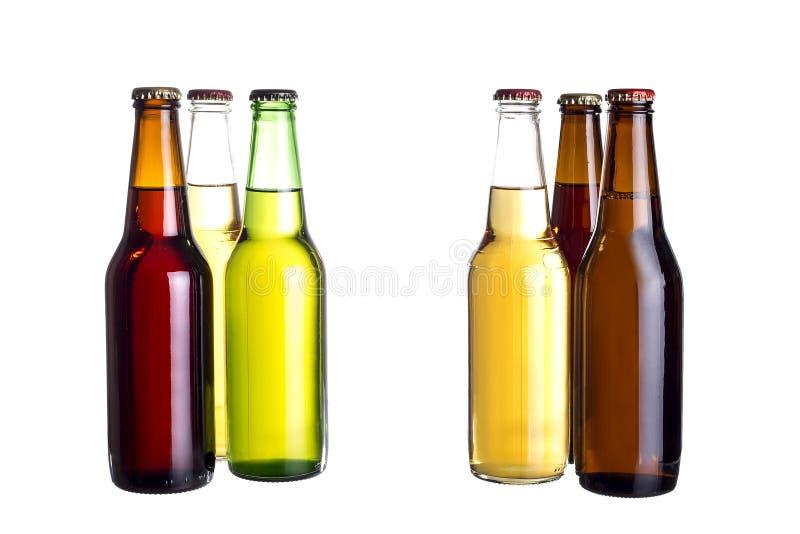 Bières mexicaines non étiquetées ou Cervesa photos stock