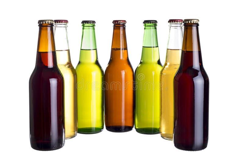 Bières mexicaines non étiquetées ou Cervesa photos libres de droits
