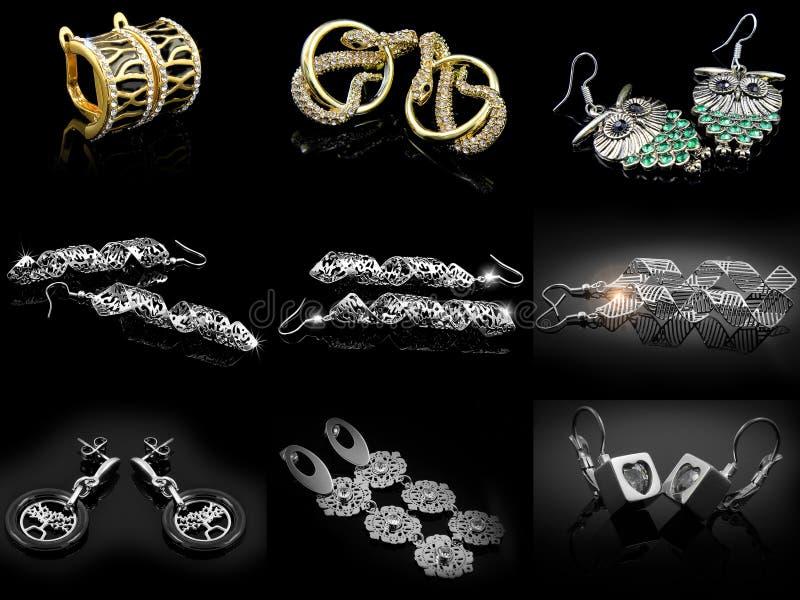 Biżuteria kolczyki 375 magna stal nierdzewna 04 obraz stock