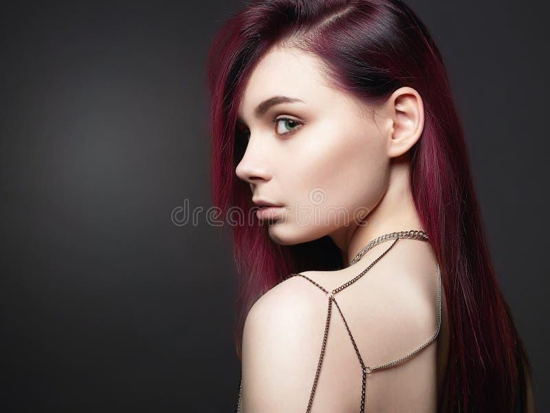 Biżuteria na kobieta plecy Piękny Womanl zdjęcie stock