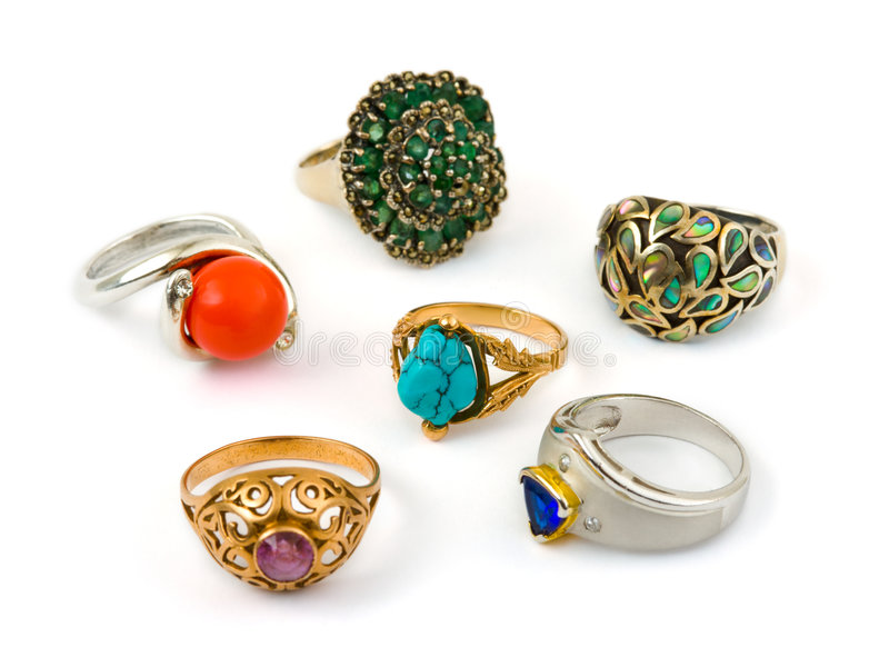 biżuteria pierścieni fotografia stock