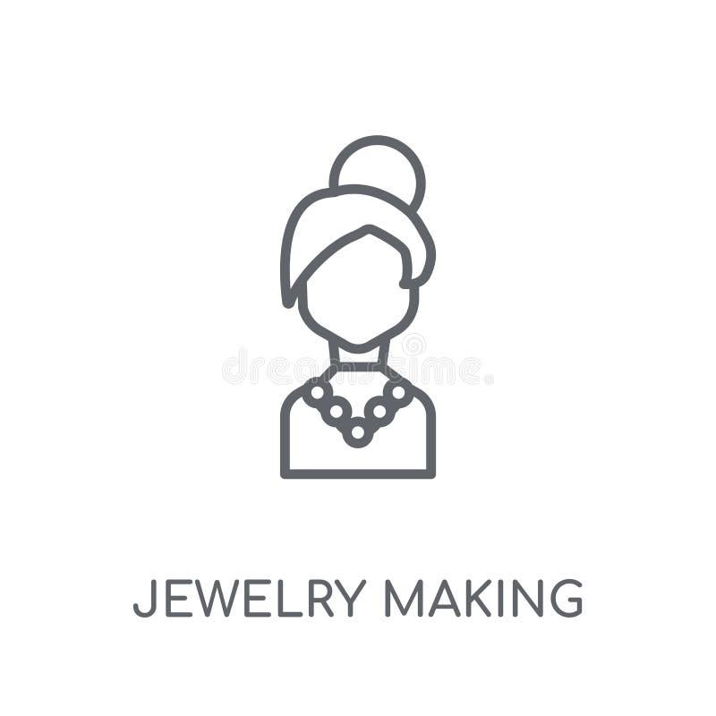 Biżuteria robi liniowej ikonie Nowożytna kontur biżuteria robi logo c ilustracja wektor