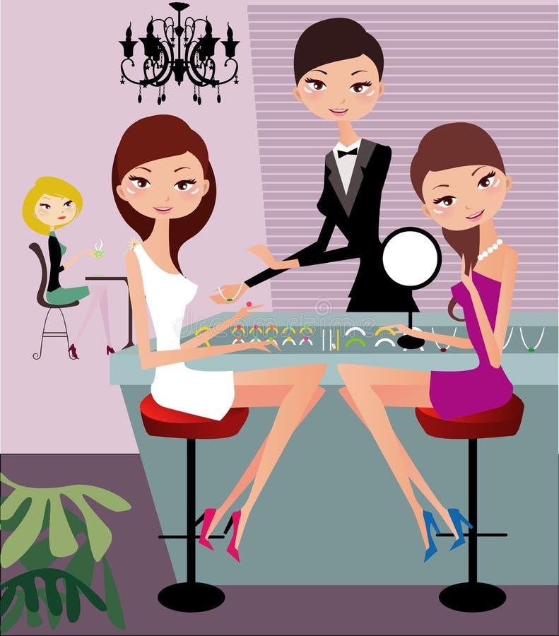 biżuteria zakupy royalty ilustracja