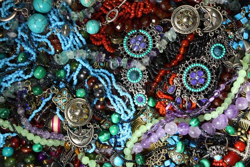 Biżuteryjny błękitny tło obrazy stock