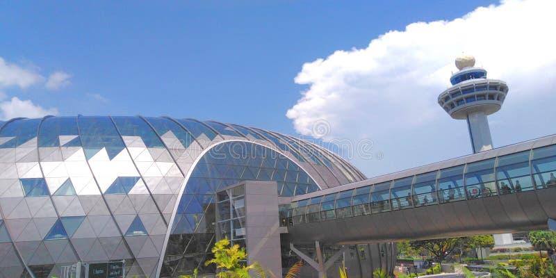 Bi?uteryjny Changi lotnisko zdjęcie royalty free