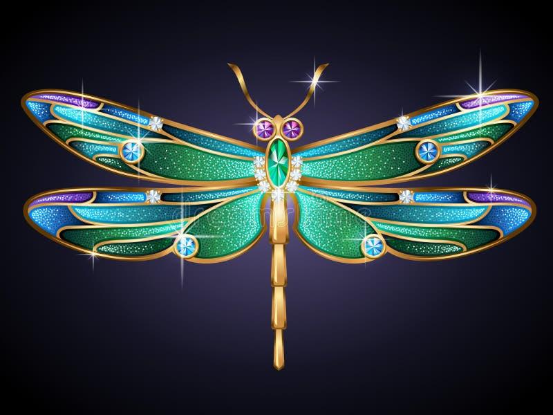 Biżuteryjny dragonfly royalty ilustracja