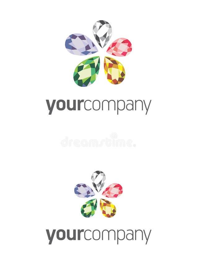 Biżuteryjny kwiatu logo royalty ilustracja
