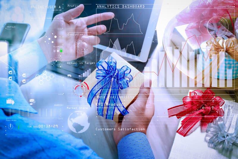 BI d'intelligence et BA d'analytics d'affaires avec des indicateurs de jeu clé KPI photographie stock