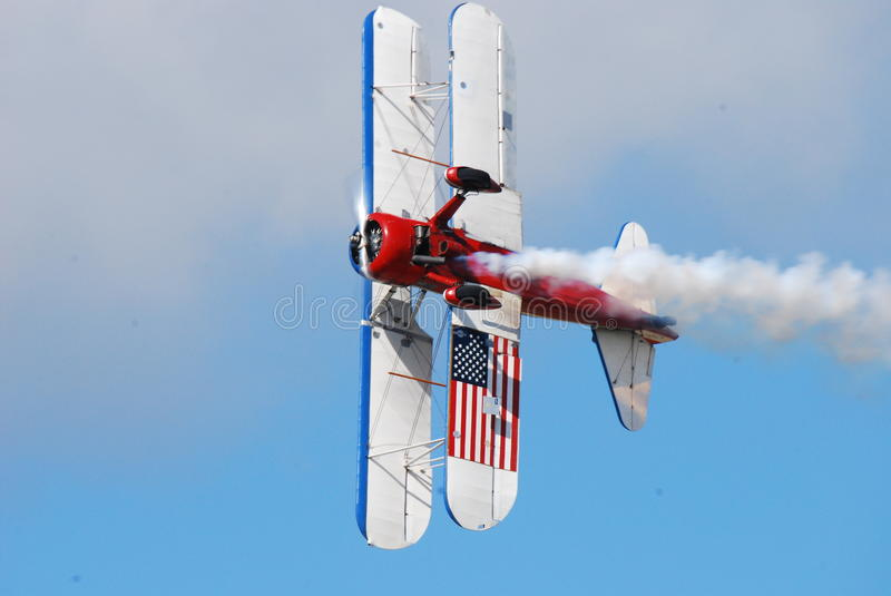 Bi-Wing Stunt Plane royalty free stock photo