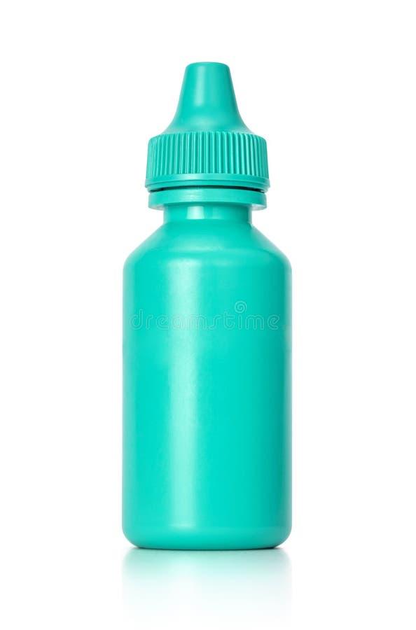Biała eyedropper butelka odizolowywająca na białym tle obraz stock