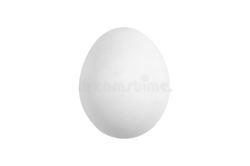 Białego jajka odosobniony wizerunek obraz stock