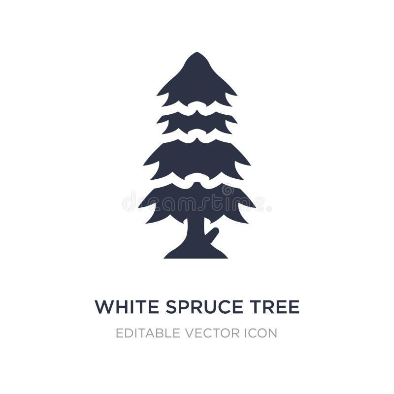 białej świerczyny drzewna ikona na białym tle Prosta element ilustracja od natury pojęcia ilustracji