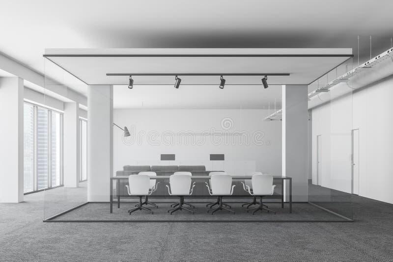 Biały biurowy pokoju konferencyjnego wnętrze royalty ilustracja