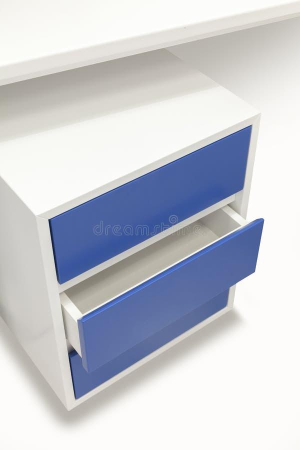 Biały kreślarza worktable zdjęcia stock